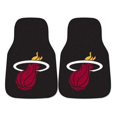 Miami Heat 18 in. x 27 in. 2-Piece Carpeted Car Mat Set