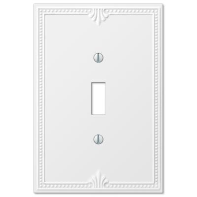 Richmond 1 Gang Toggle Composite Wall Plate - White