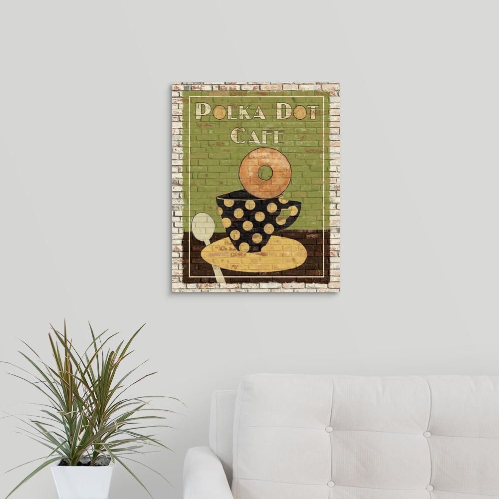 Greatcanvas Polka Dot Cafe By Avery Tillmon Canvas Wall Art