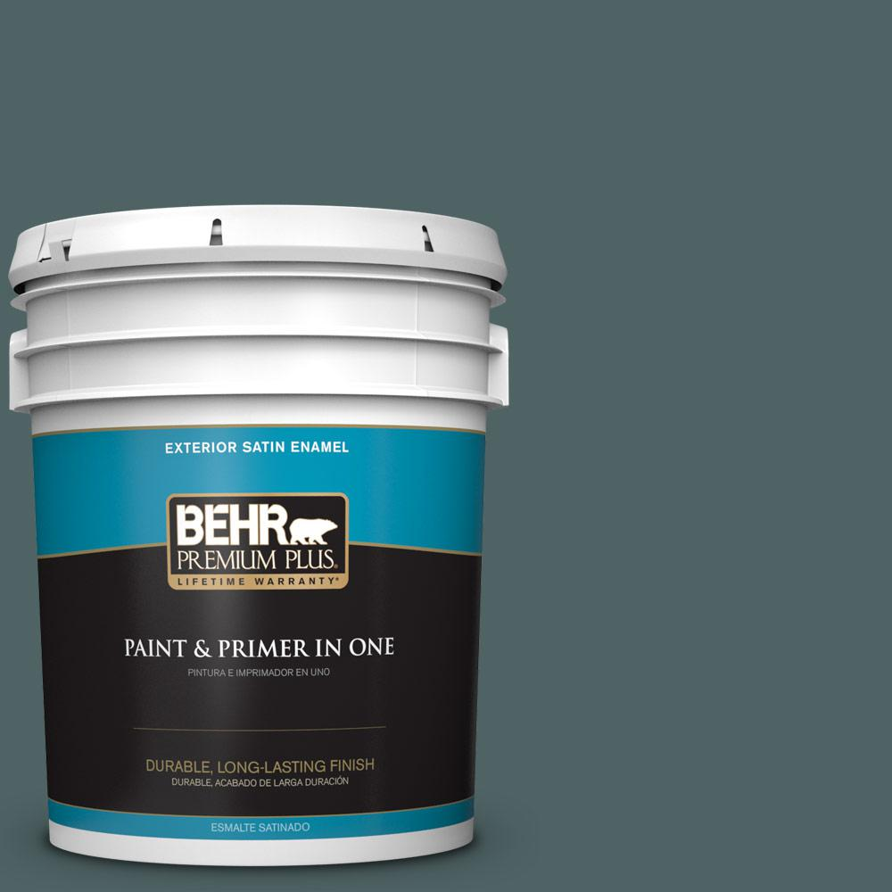 5 gal. #PPU12-20 Underwater Color Satin Enamel Exterior Paint