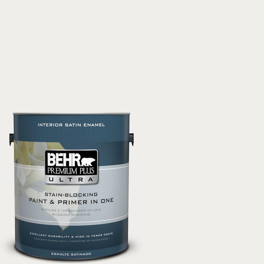 BEHR Premium Plus Ultra 1-gal. #T11-13 Fuji Snow Satin Enamel Interior Paint