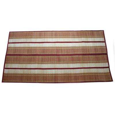 Multi-color Woven Straw Yoga Beach Mat for Indoors and Outdoors