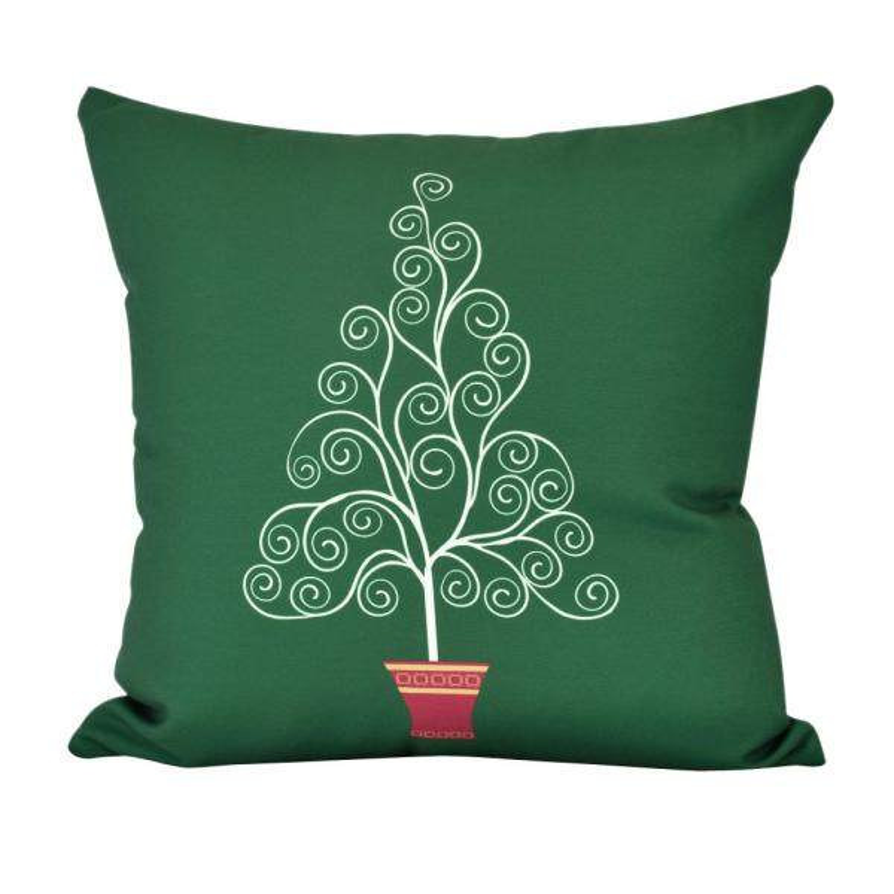 20 in. Filigree Tree Indoor Decorative Pillow PHG961GR36-20
