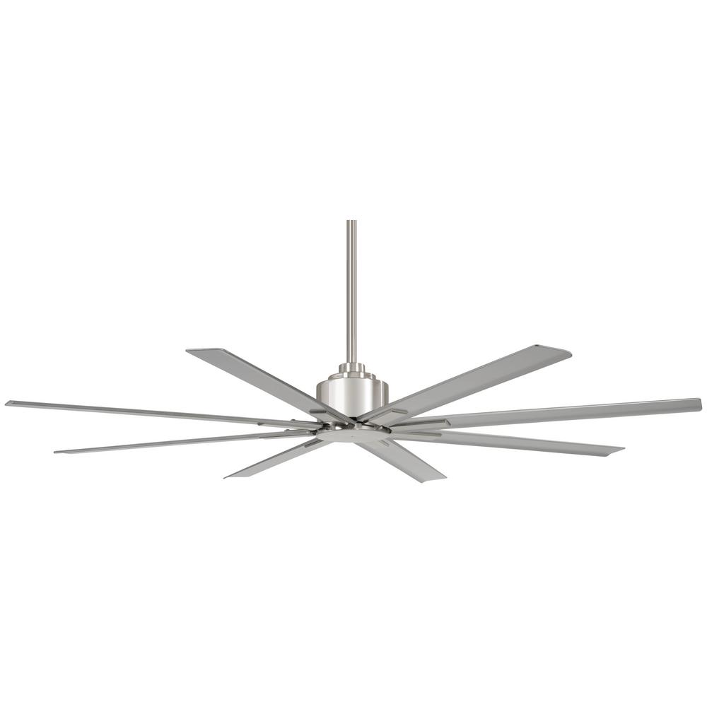 Minka-Aire Xtreme H2O 65 in. Indoor/Outdoor Brushed Nickel Wet Ceiling Fan with Remote Control