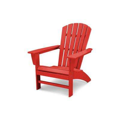 Traditional Curveback Adirondack Chair In Sunset Red
