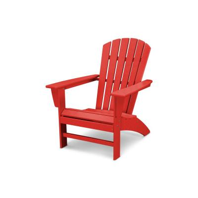 Grant ParkTraditional Curveback Sunset Red Plastic Outdoor Patio Adirondack Chair