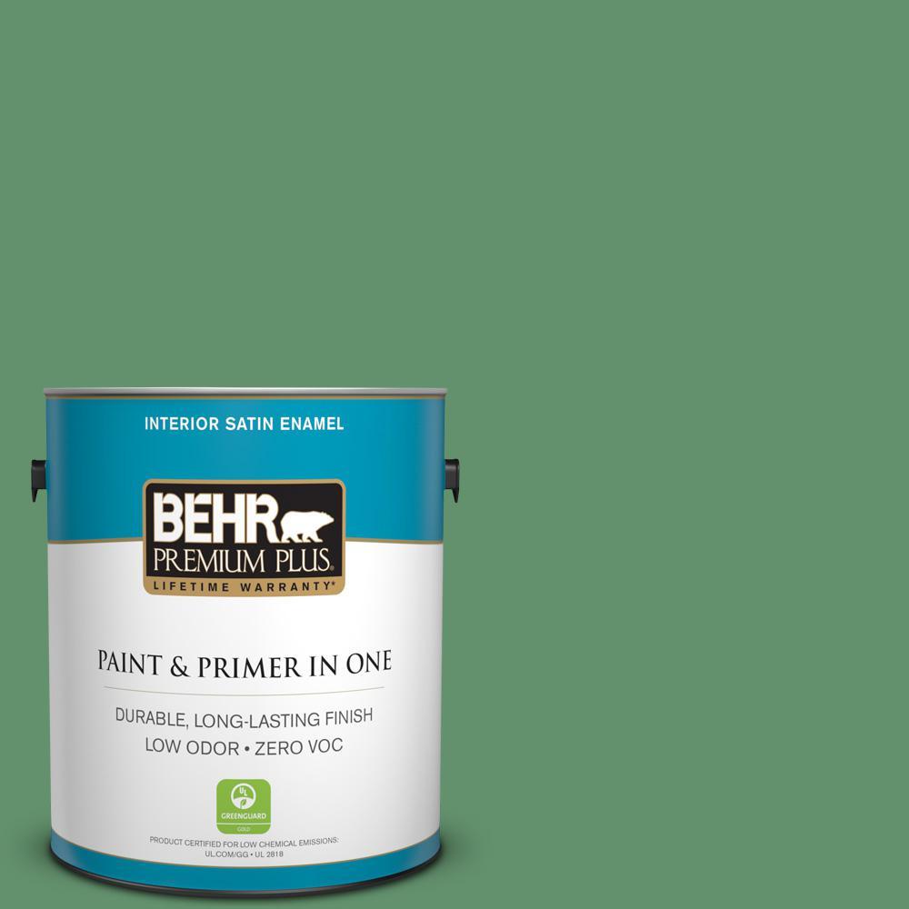 BEHR Premium Plus 1-gal. #460D-6 Manchester Zero VOC Satin Enamel Interior Paint