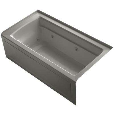 Archer 5 ft. Rectangle Acrylic Right Drain Rectangular Alcove Whirlpool Bathtub in Cashmere