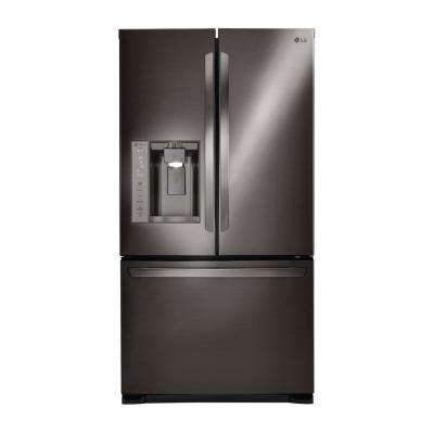 27.9 cu. ft. Built-in French Door Refrigerator in Black Stainless Steel