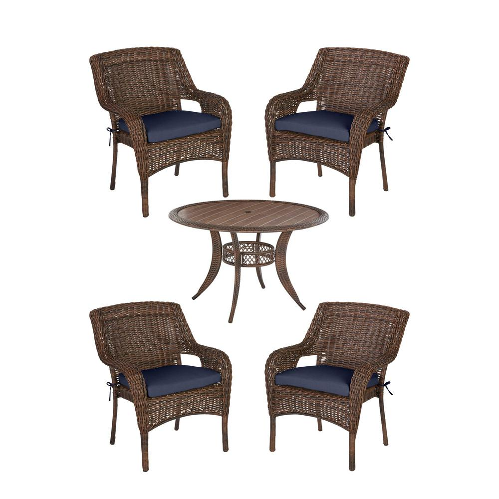 Hampton Bay Cambridge 5-Piece Brown Wicker Outdoor Patio Dining Set on home depot furniture store, home depot all weather wicker furniture, home depot front porch furniture, home depot furniture sets, home depot office furniture, home depot replacement windows, home depot temo sunrooms, home depot backyard furniture, home depot bathroom furniture, home depot garden furniture, home depot bath furniture, home depot bedroom furniture, home depot screen porches, at home depot wicker furniture, home depot kitchen furniture, home depot unfinished furniture, home depot solariums, rattan furniture, home depot furniture outlet, home depot deck furniture,