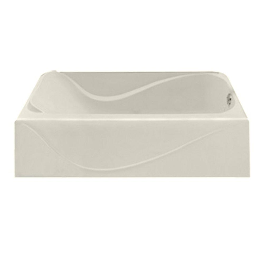 American Standard Acrylux 5 ft. Right Drain Bathtub in Linen-DISCONTINUED