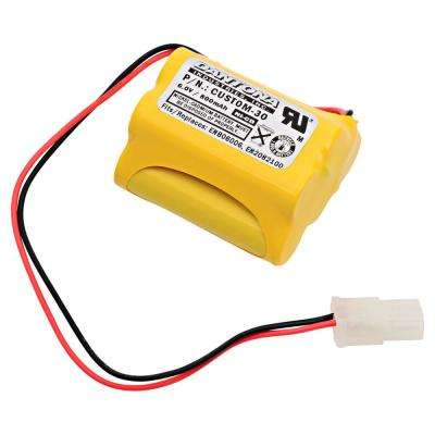 Dantona 6-Volt 800 mAh Ni-Cd battery for Aritech - DU140 Emergency Lighting