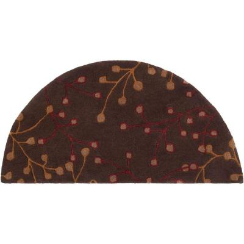 Bari Chocolate 2 ft. x 4 ft. Hearth Area Rug