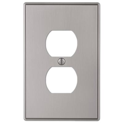 Ansley 1 Gang Duplex Metal Wall Plate - Brushed Nickel