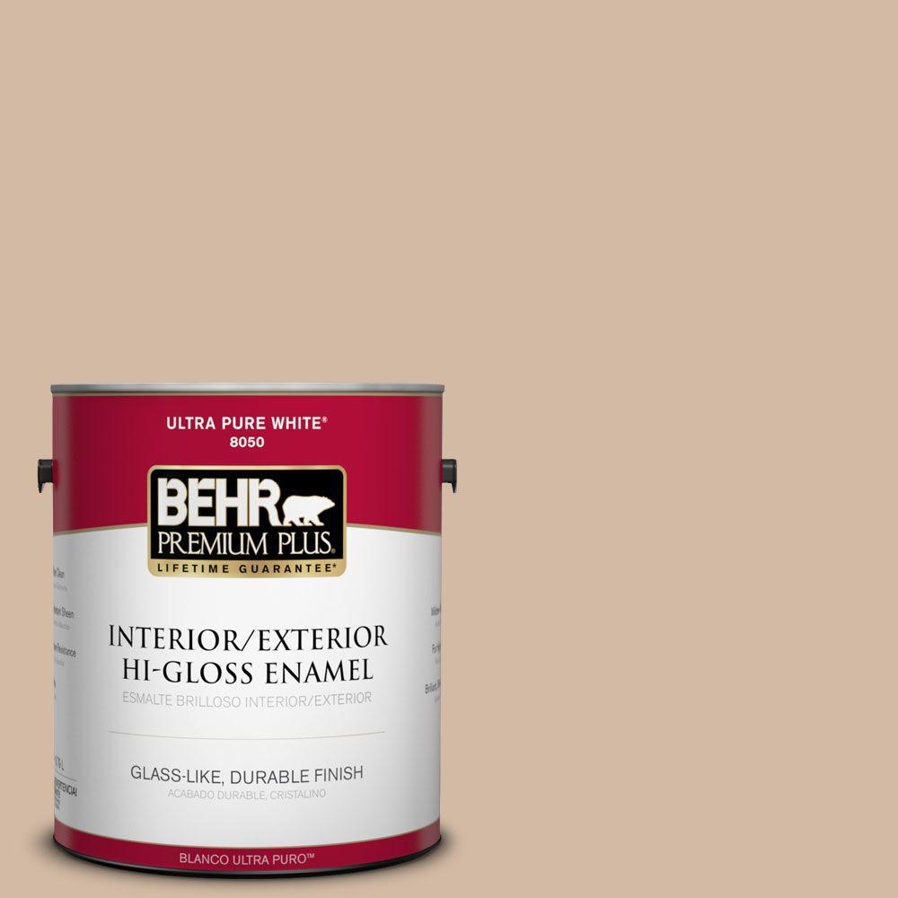 1-gal. #290E-3 Classic Taupe Hi-Gloss Enamel Interior/Exterior Paint