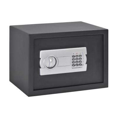 Buddy 0.78 cu. ft. Steel Mediuml Home Safe with Removable Shelf and Electronic Lock, Black