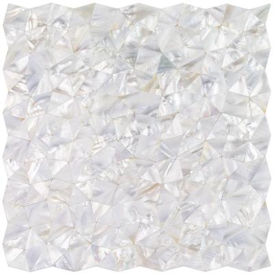 Lokahi White Troika 12.08 in. x 12.08 in. x 2 mm Pearl Shell Mosaic Tile
