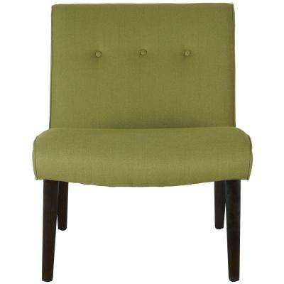 Mandell Sweet Pea Green Linen/Cotton Accent Chair