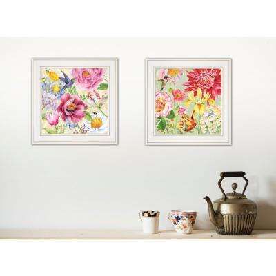 """""""English Garden I and II"""" by Barb Tourtillotte Framed Wall Art"""