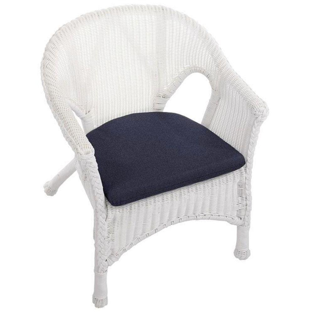 Home Decorators Collection Denim Outdura Outdoor Wicker Bistro Chair Cushion