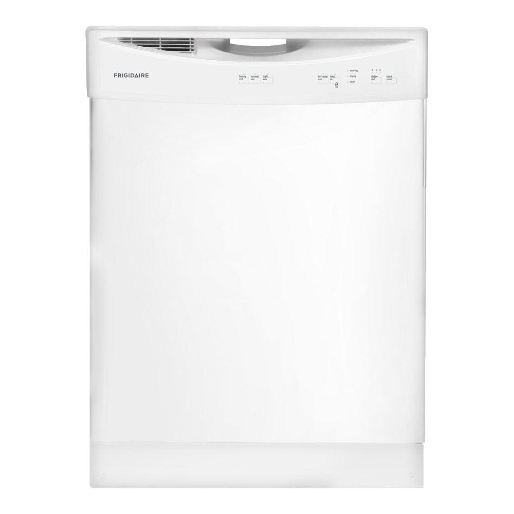 Frigidaire Front Control Tall Tub Dishwasher In White Ffbd2406nw The Home Depot