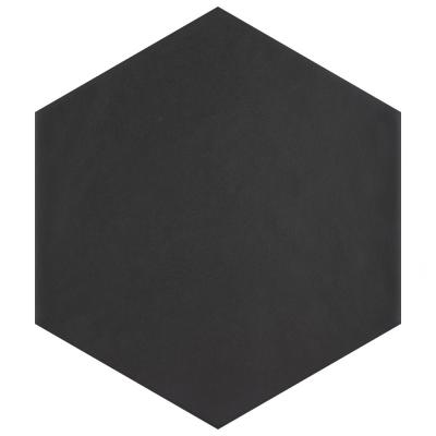 Hexatile Matte Nero 7 in. x 8 in. Porcelain Floor and Wall Tile (7.67 sq. ft./case)