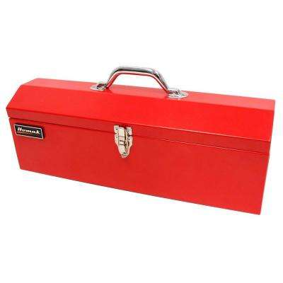 19 in. Metal Tool Box, Red