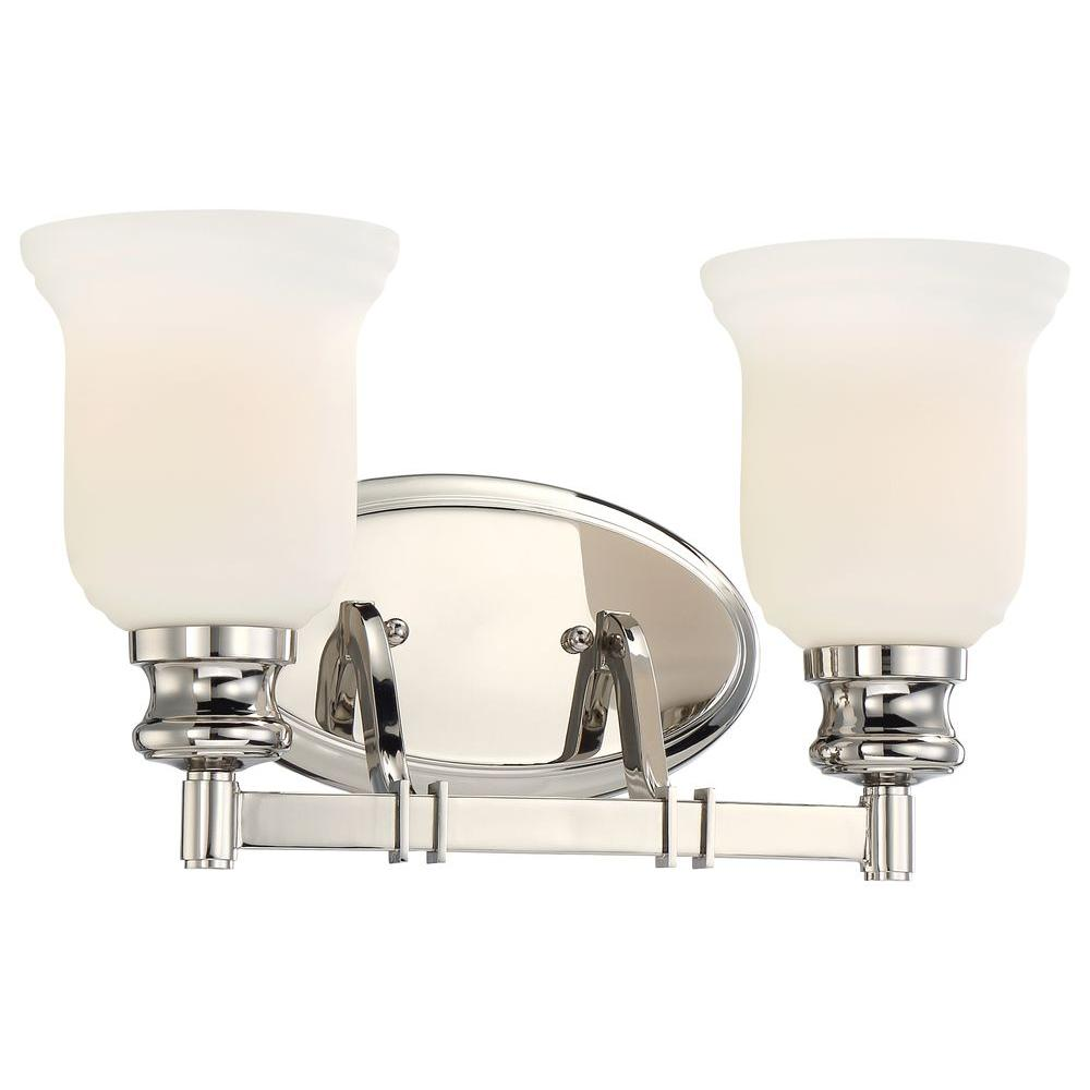 Delightful Minka Lavery Audreys Point 2 Light Polished Nickel Bath Light