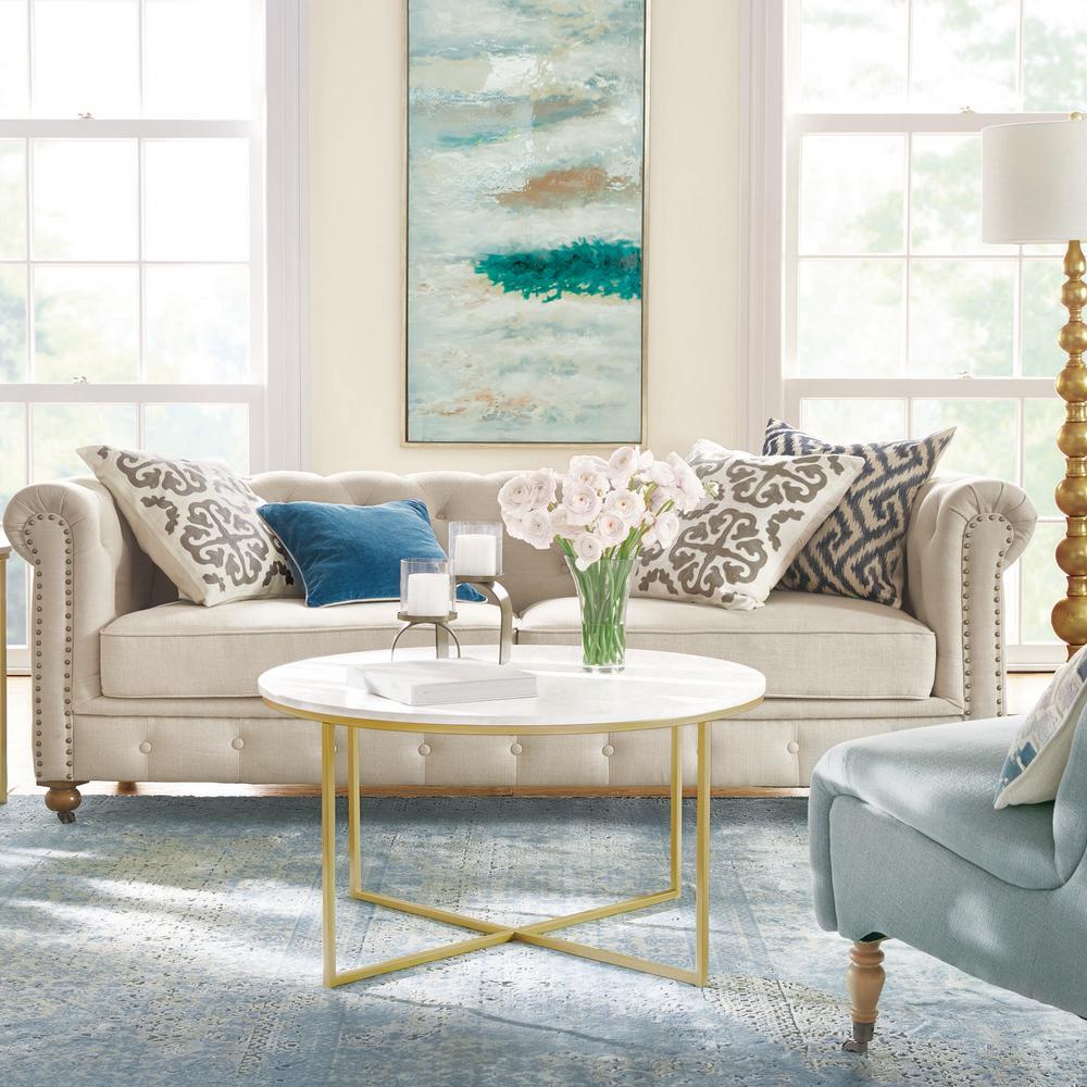 Gordon Natural Linen Sofa