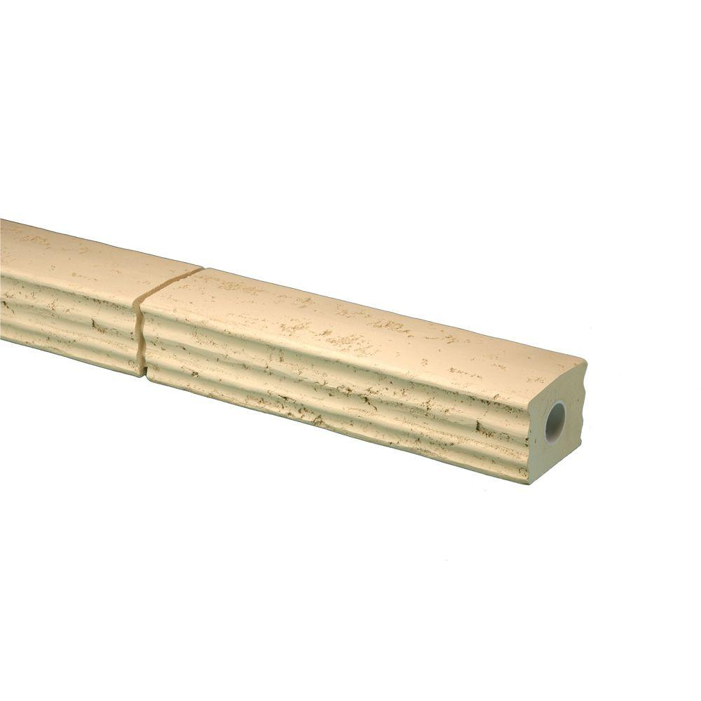 5-31/32 in. x 95-1/2 in. x 4-25/32 in. Polyurethane Stone Texture