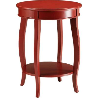Amelia Red Solid Wood Leg Side Table
