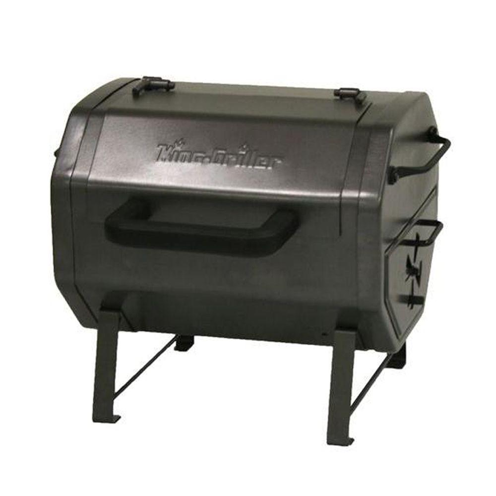 Char-Griller King-Griller Table Top Charcoal Grill / Side Fire Box-DISCONTINUED