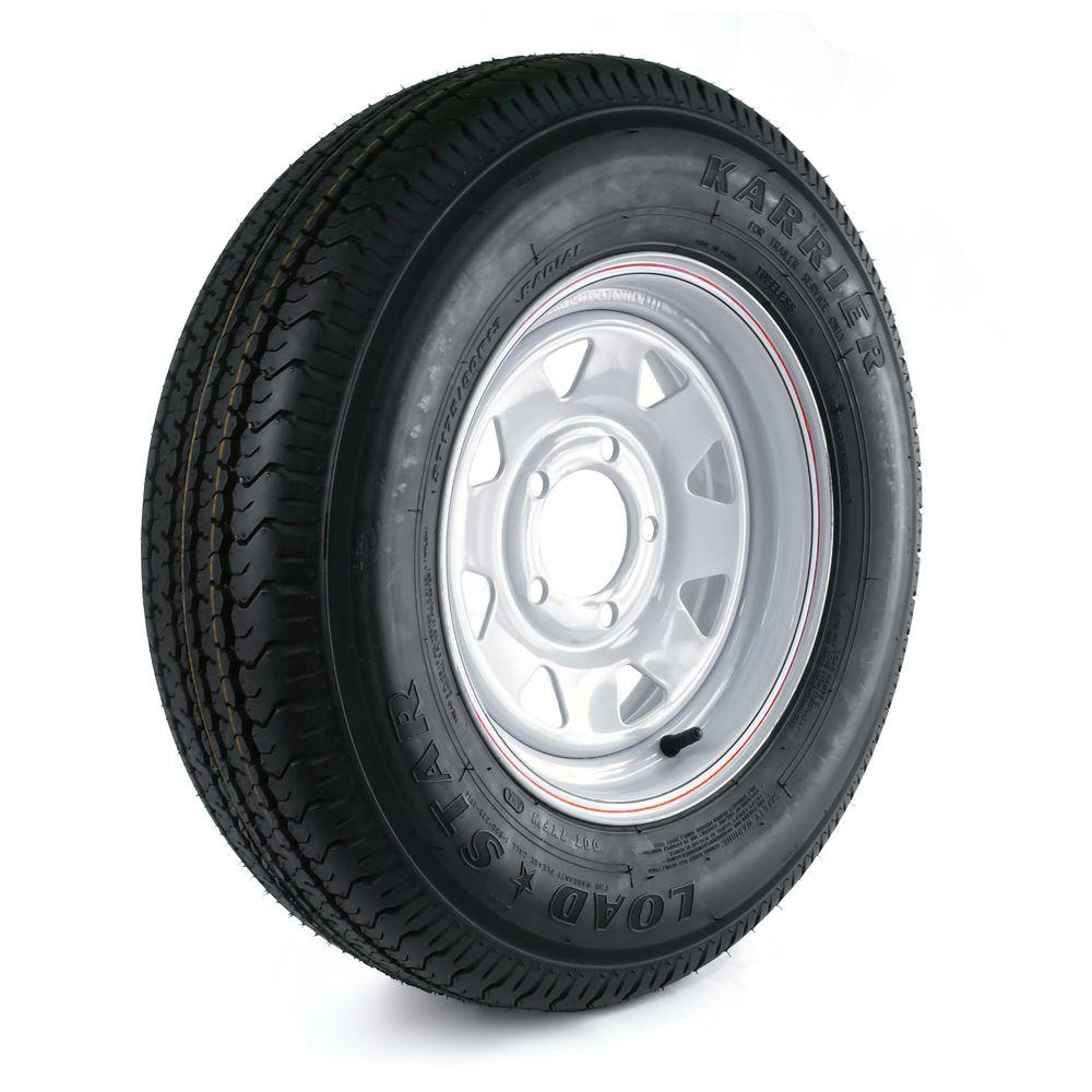 Karrier 175/80R-13 Load Range C 5-Hole Custom Spoke Radial Trailer Tire