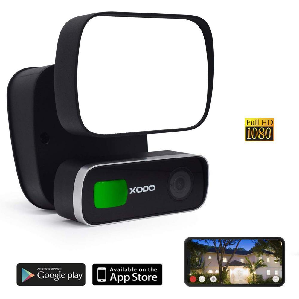 Xodo 60-Watt 120-Degree 1000 Lumens Black Motion Activated ...