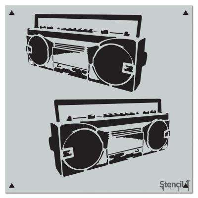 Boombox Repeat Pattern Stencil