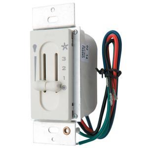 Hunter All-Fan 3-Sd Fan/Light Dual-Slide Ceiling Fan Switch-27182 - on