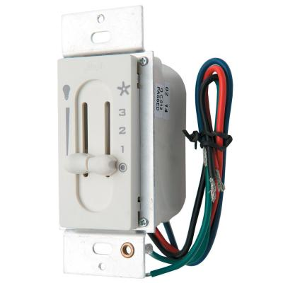 All-Fan 3-Speed Fan/Light Dual-Slide Ceiling Fan Switch