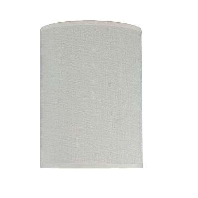 8 in. x 11 in. Off White Hardback Drum/Cylinder Lamp Shade