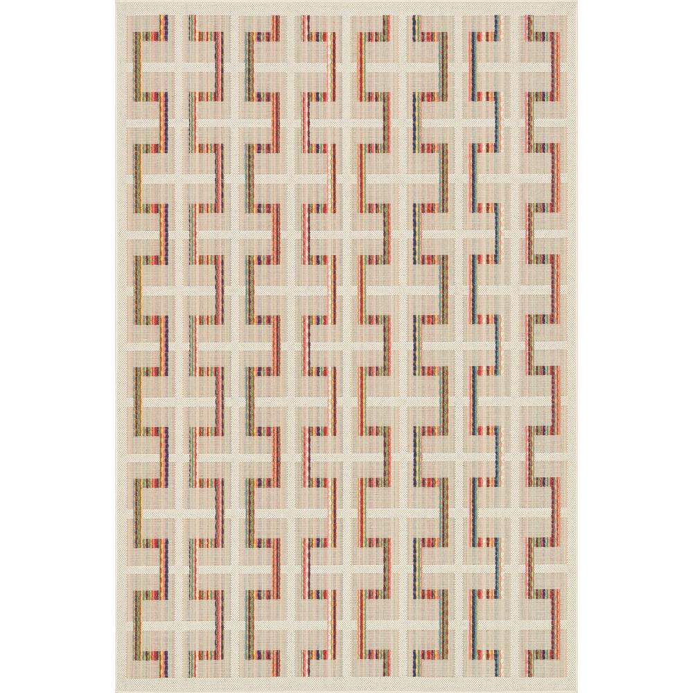 Loloi Rugs Carmen Lifestyle Collection Ivory/Multi 1 ft. 9 in. x 2 ft. 9 in. Area Rug