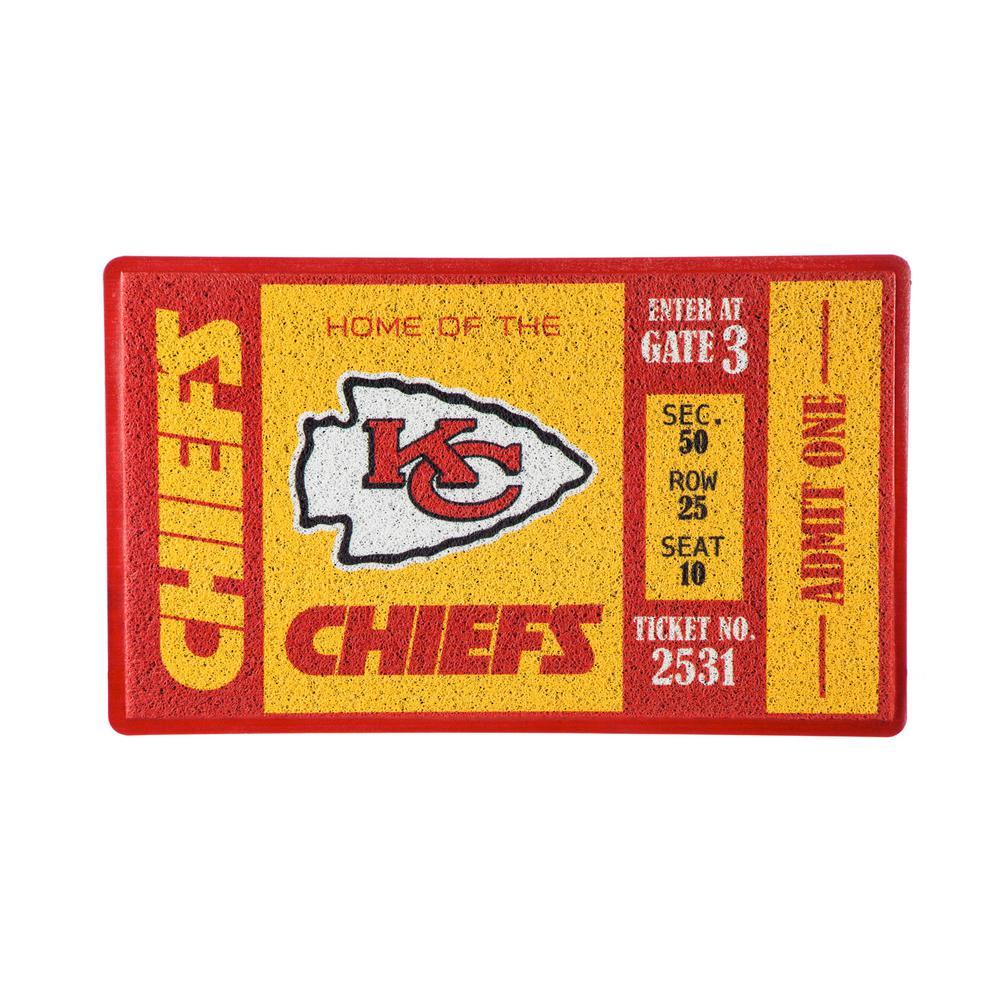 Kansas City Chiefs 30 in. x 18 in. Vinyl Indoor/Outdoor Turf Floor Mat