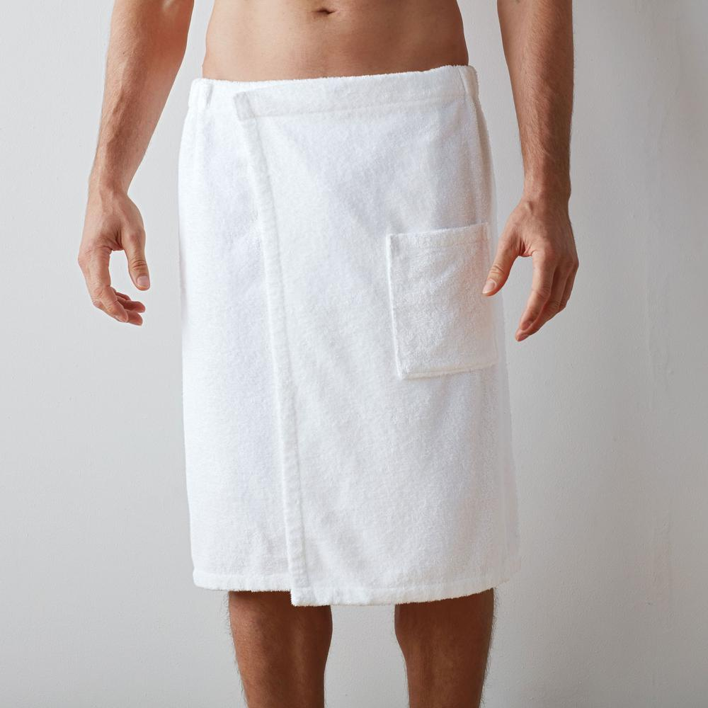 3c6a618764 The Company Store Company Cotton Men s Large Extra Large White Bath Wrap.  Overall rating
