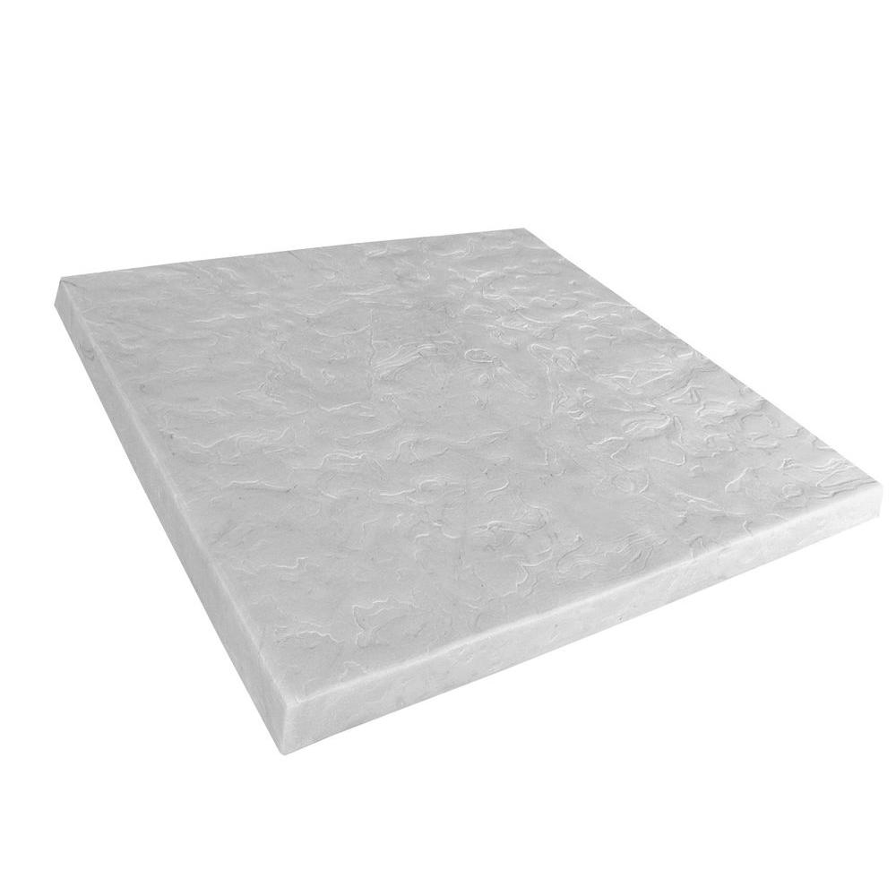 Emsco 24 in x 24 in high density plastic resin extra for Air conditioner pad concrete