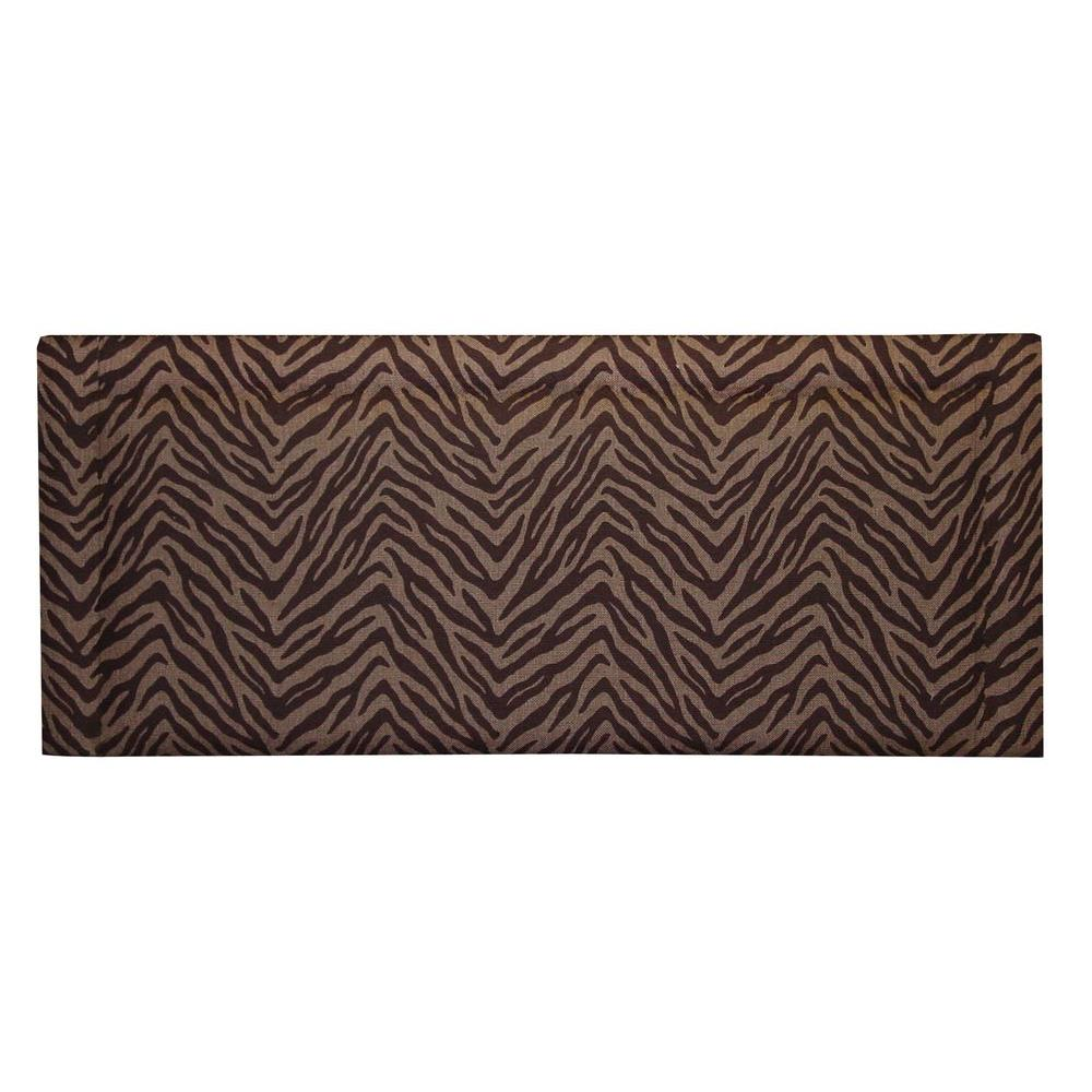 Home Decorators Collection Bernese Cotton Twill Slipcover Zebra Espresso Twin Headboard-DISCONTINUED