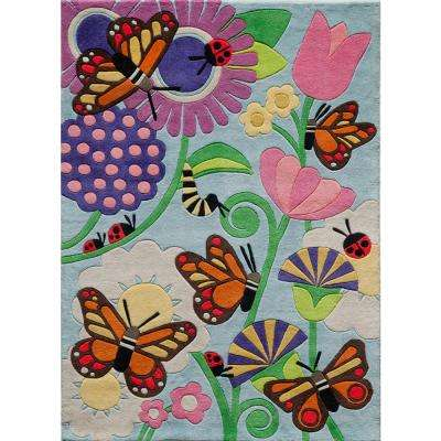 Lil Mo Whimsy Butterfly Multi 2 ft. x 3 ft. Indoor Kids Area Rug