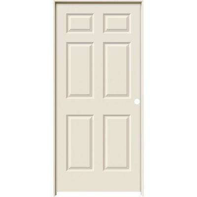 Smooth 6 Panel Solid Core Primed Molded Single Prehung Interior Door