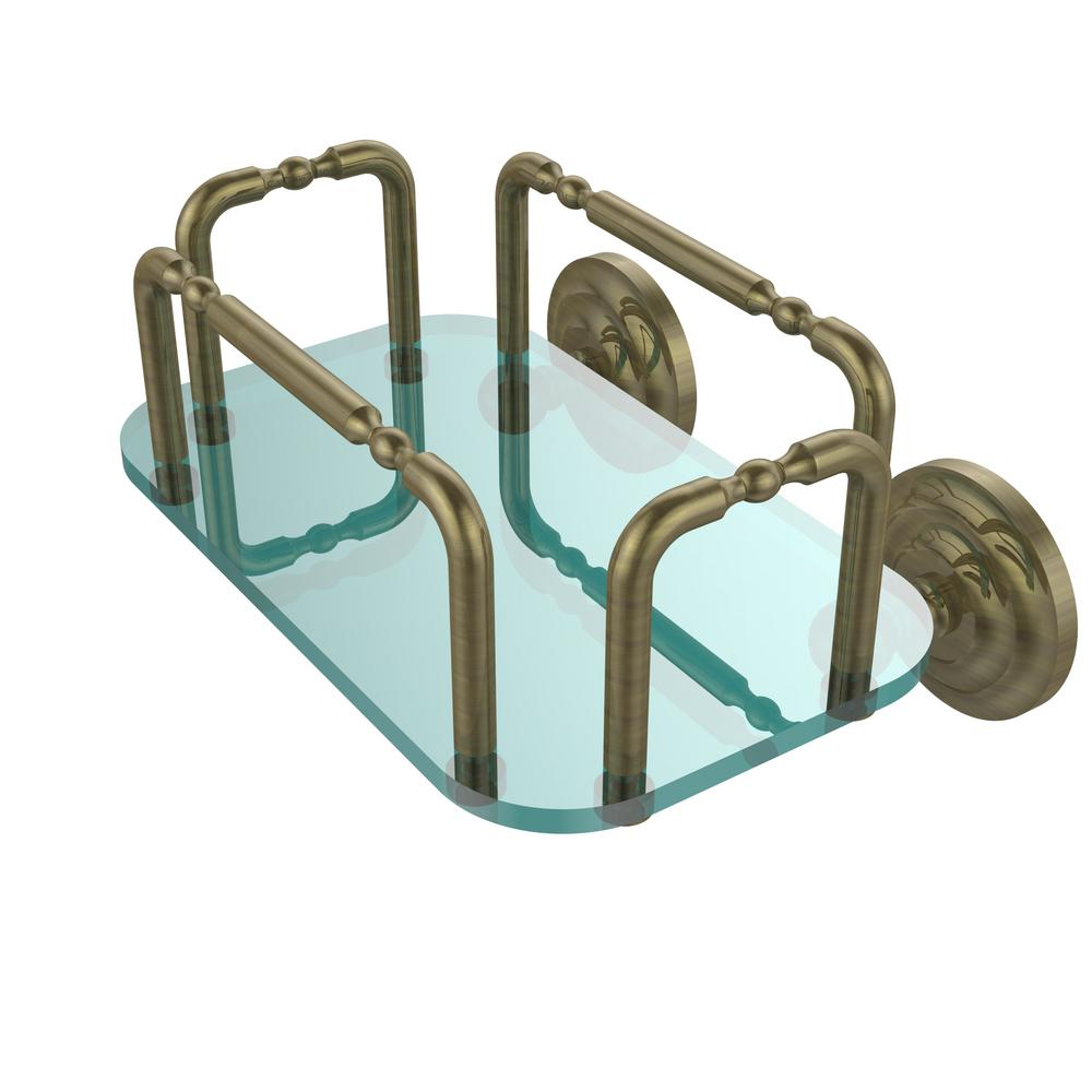 Allied Brass Que New Wall Mounted Guest Towel Holder in Antique ...