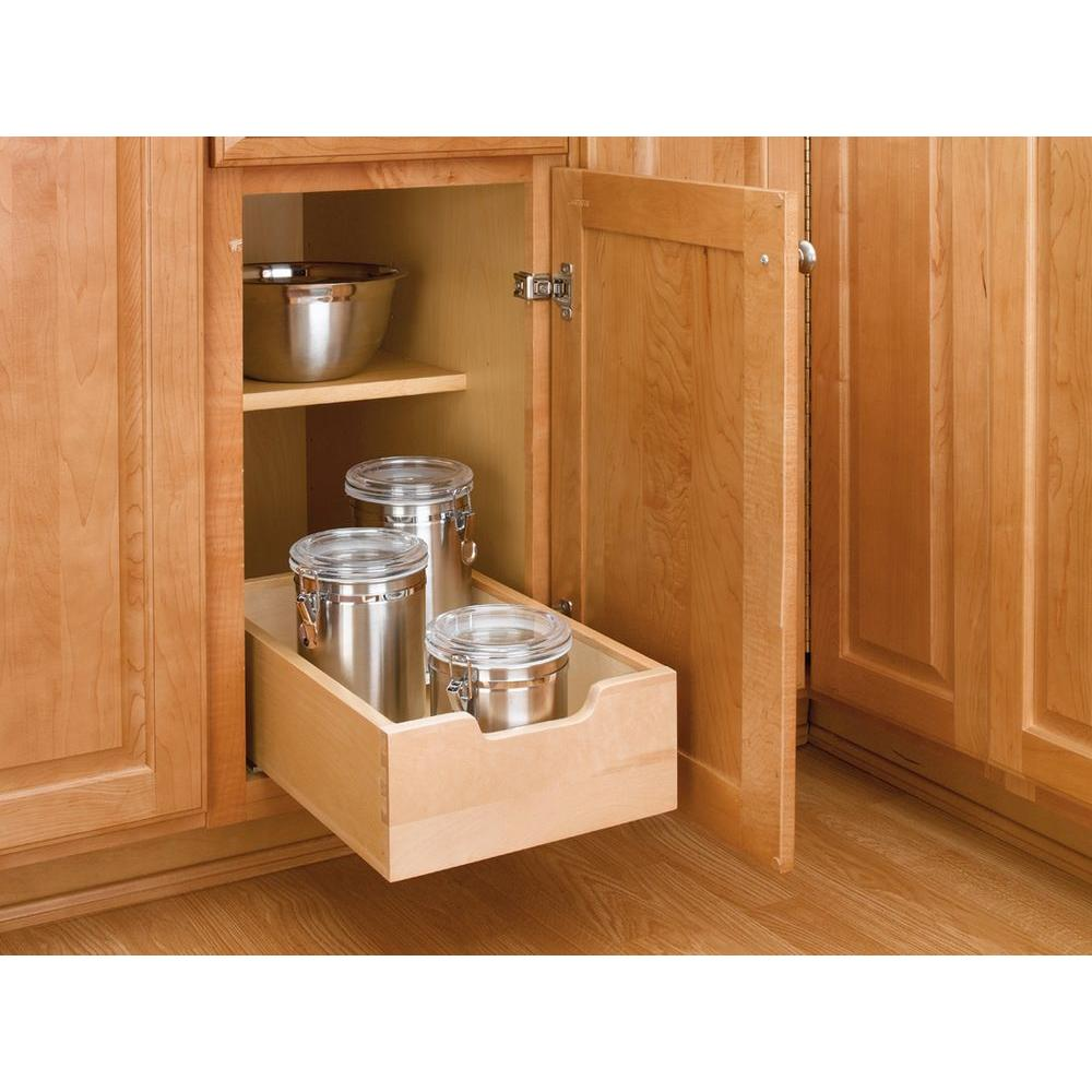 rev a shelf 5 62 in h x 11 in w x 18 5 in d small wood base rh homedepot com kitchen cabinet pull out drawer kits kitchen cabinet pull out drawer kits
