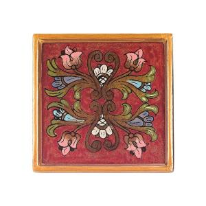 4 inch 4-Piece Square Firenze Coaster Set by