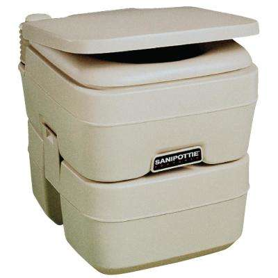 5.0 Gal. SaniPottie Portable Toilet with Mounting Brackets and 1.5 in. MSD Fittings in Tan