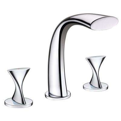 Adelais 2-Handle Deck-Mount Roman Tub Faucet in Chrome